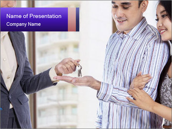 Couple receives a key PowerPoint Template - Slide 1