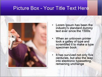 Couple receives a key PowerPoint Template - Slide 13