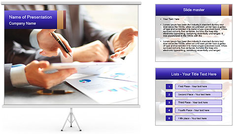 Two young businessmen PowerPoint Template