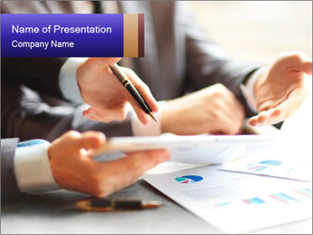 Two young businessmen PowerPoint Template - Slide 1