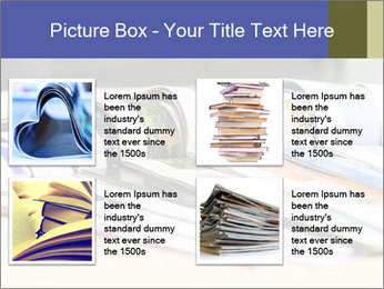 Magazine spread in the office PowerPoint Template - Slide 14