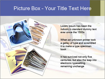 Magazine spread in the office PowerPoint Templates - Slide 23