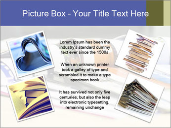 Magazine spread in the office PowerPoint Templates - Slide 24