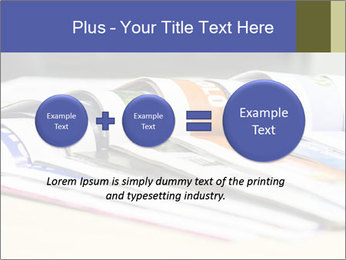 Magazine spread in the office PowerPoint Templates - Slide 75