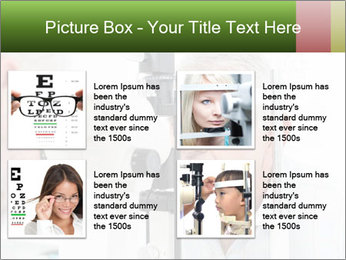 Close-up of an optometrist PowerPoint Template - Slide 14
