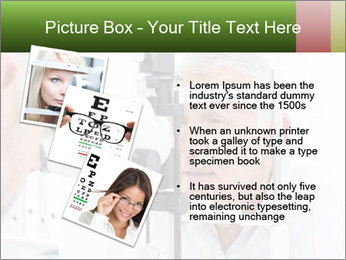 Close-up of an optometrist PowerPoint Template - Slide 17