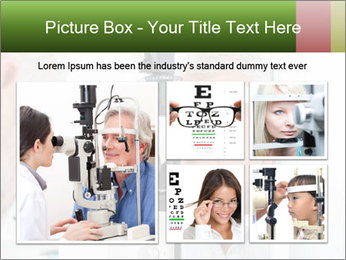Close-up of an optometrist PowerPoint Template - Slide 19