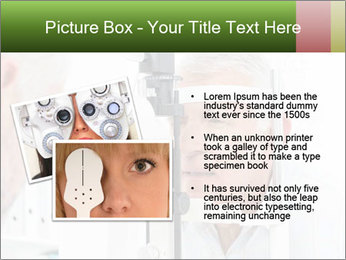Close-up of an optometrist PowerPoint Template - Slide 20