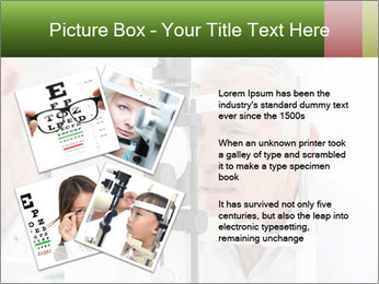 Close-up of an optometrist PowerPoint Template - Slide 23