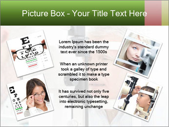 Close-up of an optometrist PowerPoint Template - Slide 24