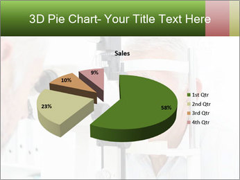 Close-up of an optometrist PowerPoint Template - Slide 35