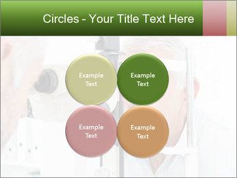 Close-up of an optometrist PowerPoint Template - Slide 38