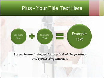 Close-up of an optometrist PowerPoint Template - Slide 75