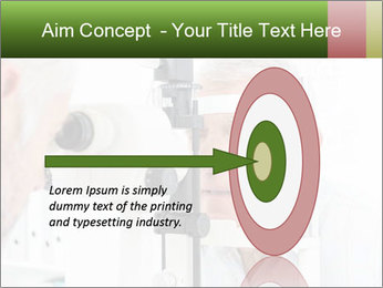 Close-up of an optometrist PowerPoint Template - Slide 83