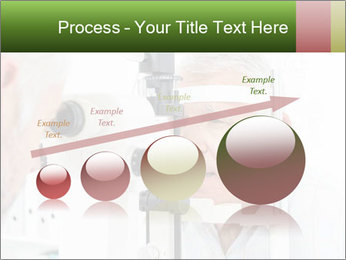 Close-up of an optometrist PowerPoint Template - Slide 87