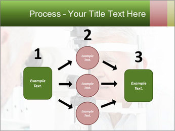 Close-up of an optometrist PowerPoint Template - Slide 92
