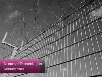 Barbed PowerPoint Template - Slide 1