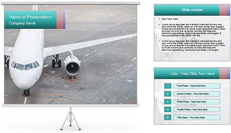 Passenger aircraft PowerPoint Template