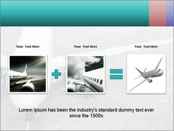 Passenger aircraft PowerPoint Template - Slide 22