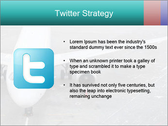 Passenger aircraft PowerPoint Template - Slide 9