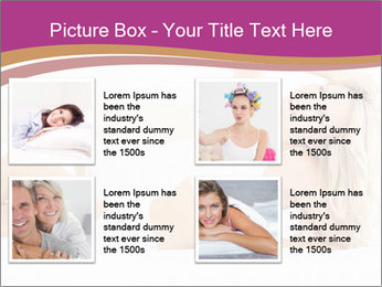Pretty blonde woman lying on bed PowerPoint Templates - Slide 14