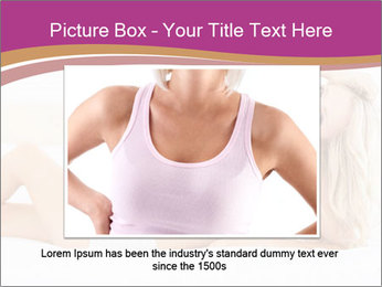 Pretty blonde woman lying on bed PowerPoint Template - Slide 15