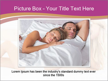 Pretty blonde woman lying on bed PowerPoint Template - Slide 16