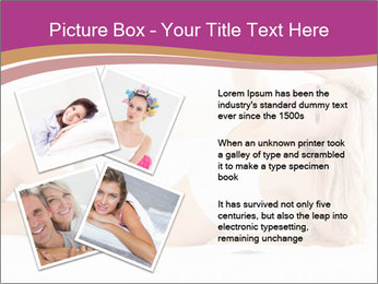 Pretty blonde woman lying on bed PowerPoint Templates - Slide 23
