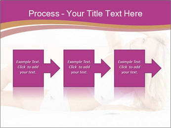 Pretty blonde woman lying on bed PowerPoint Templates - Slide 88