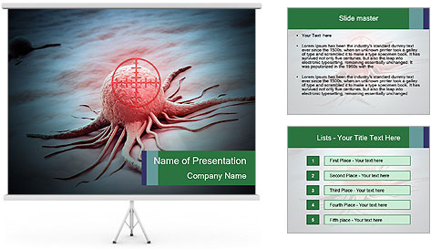 Cancer cell in a crosshair PowerPoint Template