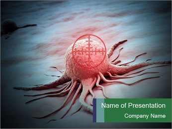 Cancer cell in a crosshair PowerPoint Template - Slide 1
