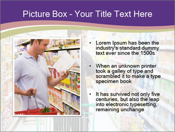 Man in supermarket PowerPoint Template - Slide 13