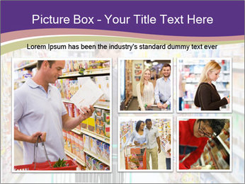 Man in supermarket PowerPoint Template - Slide 19