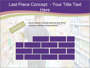 Man in supermarket PowerPoint Template - Slide 46