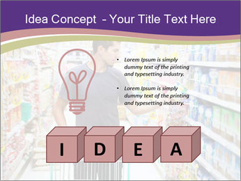 Man in supermarket PowerPoint Template - Slide 80