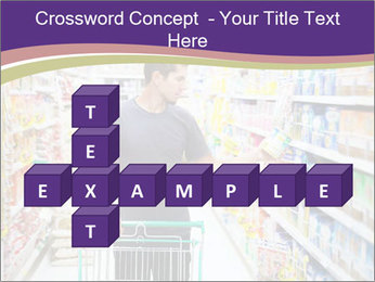 Man in supermarket PowerPoint Template - Slide 82