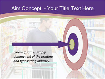 Man in supermarket PowerPoint Templates - Slide 83