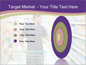 Man in supermarket PowerPoint Template - Slide 84