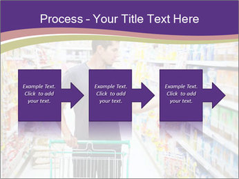 Man in supermarket PowerPoint Template - Slide 88