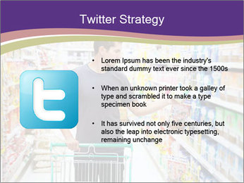 Man in supermarket PowerPoint Template - Slide 9