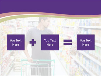 Man in supermarket PowerPoint Template - Slide 95