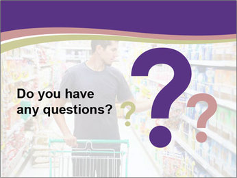Man in supermarket PowerPoint Template - Slide 96