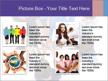 High angle view of people stacking hands PowerPoint Template - Slide 14
