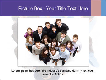 High angle view of people stacking hands PowerPoint Template - Slide 15