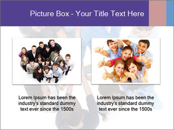 High angle view of people stacking hands PowerPoint Template - Slide 18