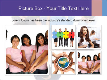 High angle view of people stacking hands PowerPoint Template - Slide 19