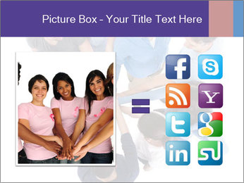High angle view of people stacking hands PowerPoint Template - Slide 21