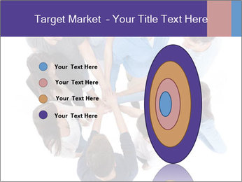 High angle view of people stacking hands PowerPoint Template - Slide 84