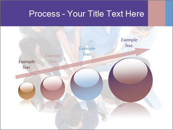 High angle view of people stacking hands PowerPoint Template - Slide 87