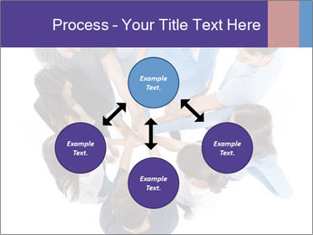 High angle view of people stacking hands PowerPoint Templates - Slide 91